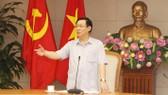 政府副總理王廷惠在會議上發表講話。(圖源:VGP)