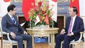 國家主席陳大光會見日本共產黨委員長志位和夫。(圖源:互聯網)