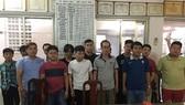 被拘留的部份賭球者。(圖源:公安機關提供)