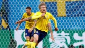 福斯貝里進球瑞典晉級八強。(互聯網)