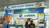 圖為越浪股份公司在內牌國際機場開設的外幣兌換處。(示意圖源:互聯網)