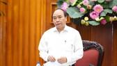 政府總理阮春福主持 701 指委會會議並發表講話。(圖源:光孝)