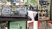 密密麻麻、有損市容的壁畫在市中心多條街道比比皆是。