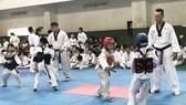 跆拳道第四級學生比賽。