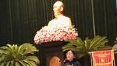 市委宣教處主任申氏舒在聚會上發表講話。