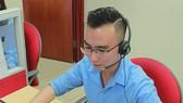 1022 號技術基礎設施熱線電話總台員張晉海。