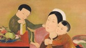 黎譜著名畫家的《母愛》 作品成交價逾110萬美元。