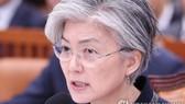 韓國外長康京和8日在國會外交統一委會議上答議員問。(圖源:韓聯社)