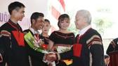 阮富仲總書記、國家主席接見各少數民族代表。(圖源:越通社)
