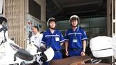 西貢全科醫院兩輪救護車模式的救護組成員。