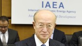 國際原子能機構(IAEA)總幹事天野之彌。(圖源:共同社)