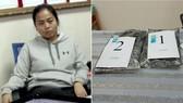 被拘留的女嫌犯與毒品物證。(圖源:功豐)