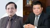 BIDV銀行原副總經理陳陸郎(左)與BIDV銀行原董事長陳北河。(圖源:公安機關提供)