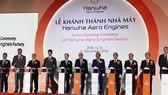 由韓國韓華集團投資的首家飛機零件生產廠落成儀式。(圖源:阮草)