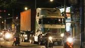 今晚禁止卡車進入市中心。(示意圖源:互聯網)