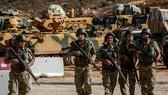 駐土敘邊境的土耳其部隊。(圖源:AFP)