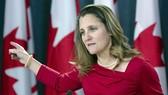 加拿大外交部長弗利蘭。(圖源:加通社)