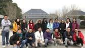 中國湖北考察團抵達武漢後合照留念。