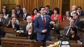 加拿大總理特魯多在國會下議院發表演講。(圖源:路透社)
