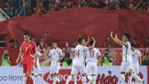越南隊慶祝進球。