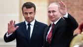 法國總統馬克龍與俄羅斯總統普京。(圖源:AFP)