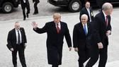美國總統特朗普抵達美國國會大廈。(圖源:Getty Images)