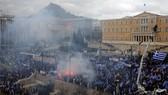 希臘數萬民眾抗議馬其頓更名協議