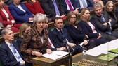 英國首相特蕾莎‧梅在國會講話。(圖源:AFP)