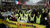 法國黃背心示威者走上街頭抗議。(圖源:路透社)