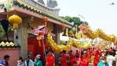 七府古廟的迎神遊行隊伍。