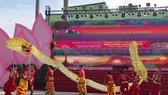 第五郡文化中心表演舞龍節目。