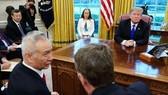 特朗普上周五在白宮會見了劉鶴率領的中國代表團。(圖源:AFP)