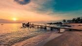 寧靜優美的富國島長海灘。