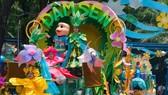 遊行是蓮潭暑期中的精彩節目之一。