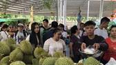 南部水果節吸引眾多遊客前往購買、品嚐水果。