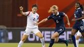 法國(藍衣)與韓國比賽一瞥。(圖源:互聯網)