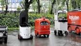 日本送貨機器人。(圖源:共同社)