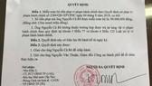 Chính thức miễn tiền phạt 90 triệu đồng cho ông Nguyễn Cà Rê