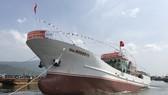 Hạ thủy tàu dịch vụ hậu về nghề cá Trường Sa MT.01