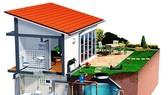 Hệ thống thu gom và tái sử dụng nước mưa đối với hộ gia đình ở đô thị gần đây được các công ty tư vấn, thiết kế chú trọng. Ảnh: Shymart
