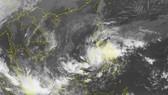 Ảnh vệ tinh đường đi và vị trí của áp thấp có thể mạnh lên thành bão. Nguồn: TTDBKTTVTW