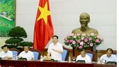 Deputy Prime Minister Vuong Dinh Hue states at the meeting (Photo: VGP)