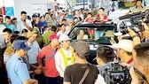 Chaos at Cai Lay BOT toll booth on November 30, 2017 (Photo: SGGP)