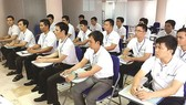 Workers attend a training course at INTIME Company before going to work in Japan  (Photo: SGGP)