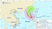 Direction of the storm on October 31 (Photo: national weather bureau)