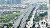 Ben Thanh-Suoi Tien metro line's stretch spans over the Saigon River (Photo: SGGP)