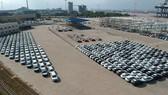 Imported cars at Saigon Premier Container Terminal. (Photo: SGGP)