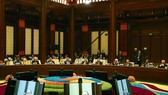 Prime Minister Nguyen Xuan Phuc devliers a speech at a roundtable meeting of the second Belt and Road Forum for International Cooperation (BFR) in Beijing, China. (Photo: VNA)