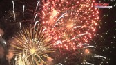 Residents, visitors flock to downtown HCMC to enjoy firework displays