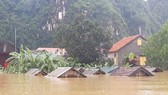 Quang Binh province is hard hit by flood. (Photo: VNA)